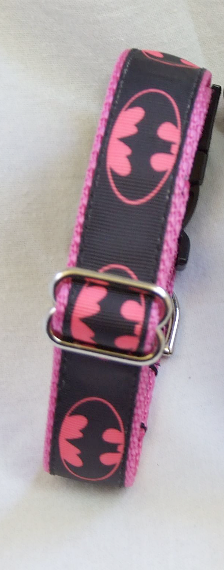 Pink batman collars